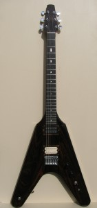 DJP Guitars, custom guitars, luthier, st louis guitar maker, st louis luthier, custom flying v guitar